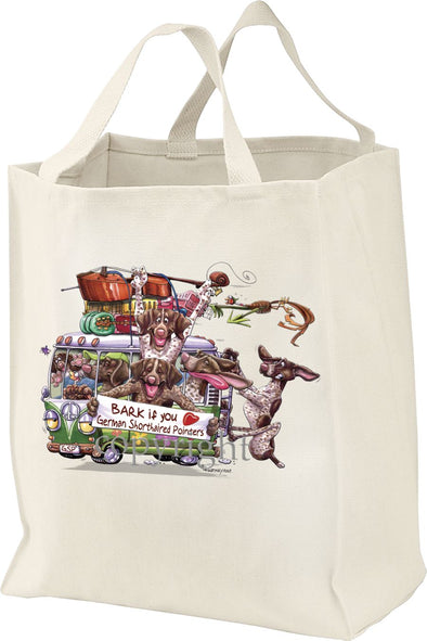German Shorthaired Pointer - Bark If You Love Dogs - Tote Bag