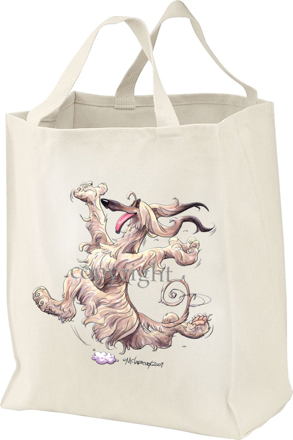Afghan Hound - Happy Dog - Tote Bag