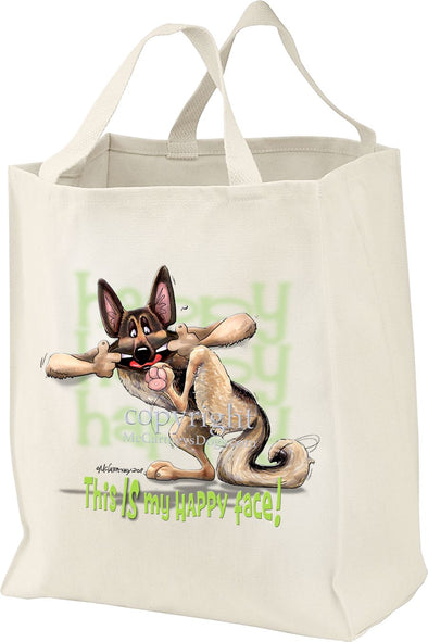 German Shepherd - 4 - Who's A Happy Dog - Tote Bag