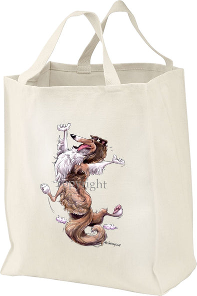 Collie - Happy Dog - Tote Bag