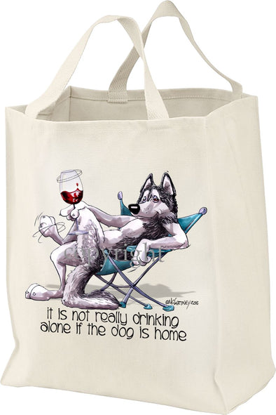Siberian Husky - It's Not Drinking Alone - Tote Bag
