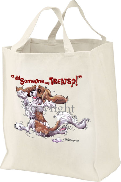 Cavalier King Charles  Blenheim - Treats - Tote Bag