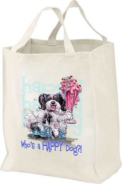 Havanese - Who's A Happy Dog - Tote Bag