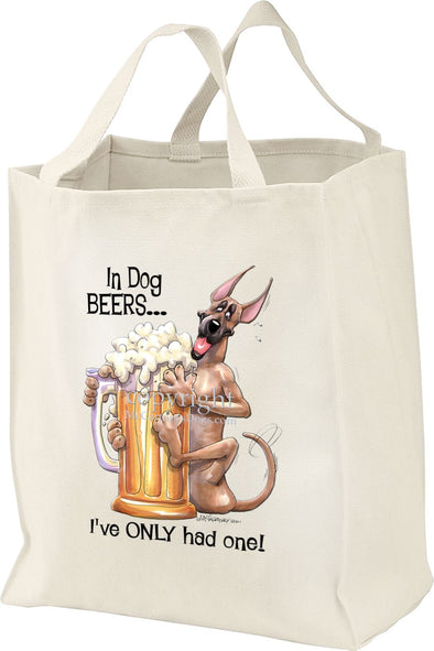 Great Dane - Dog Beers - Tote Bag