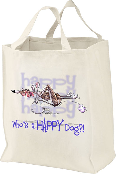 Whippet - Who's A Happy Dog - Tote Bag