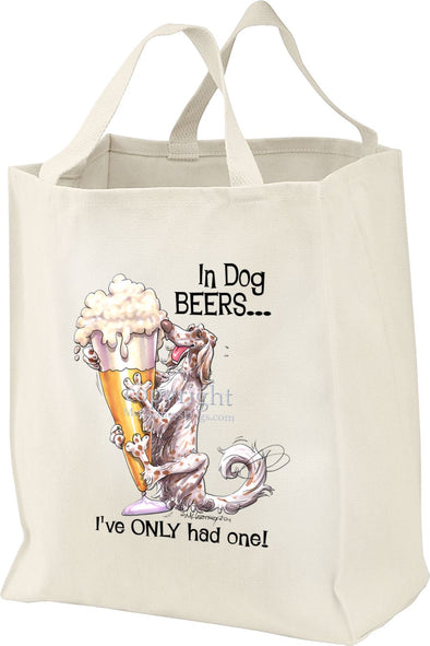 English Setter - Dog Beers - Tote Bag