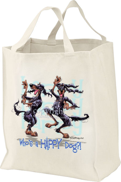Gordon Setter - Who's A Happy Dog - Tote Bag