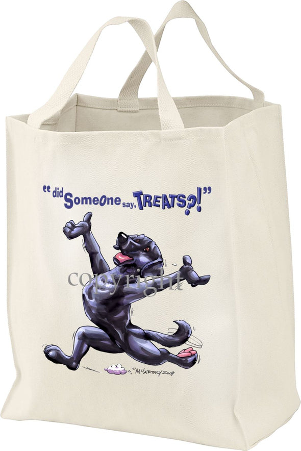 Labrador Retriever  Black - Treats - Tote Bag