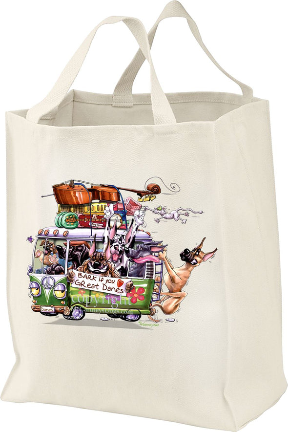 Great Dane - Bark If You Love Dogs - Tote Bag