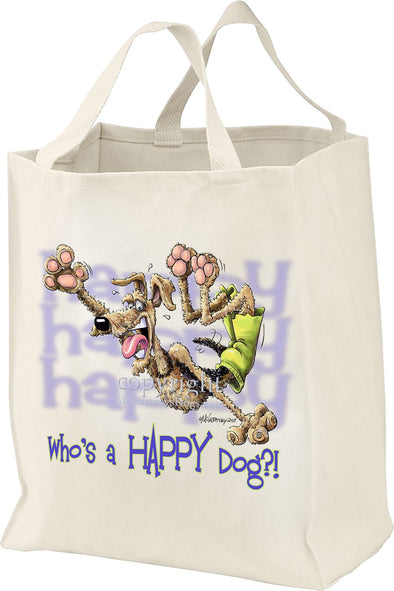 Airedale Terrier - Who's A Happy Dog - Tote Bag