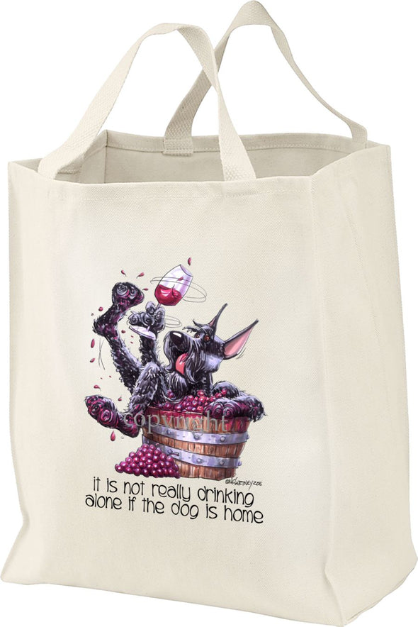 Giant Schnauzer - It's Not Drinking Alone - Tote Bag
