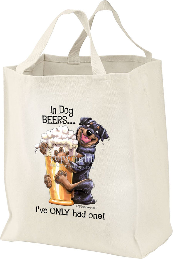 Rottweiler - Dog Beers - Tote Bag