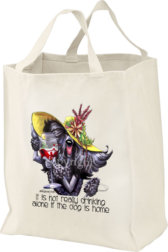 Poodle  Black - It's Not Drinking Alone - Tote Bag