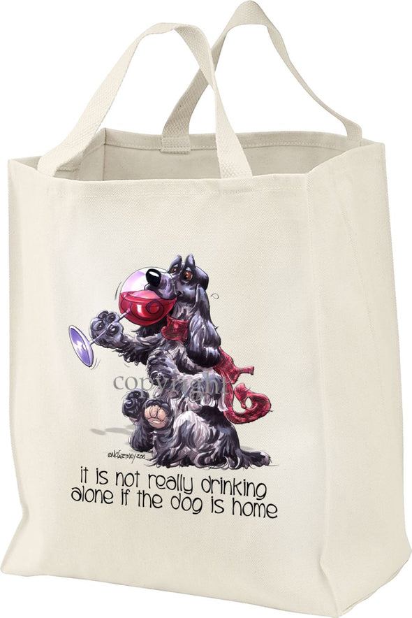 English Cocker Spaniel - It's Not Drinking Alone - Tote Bag