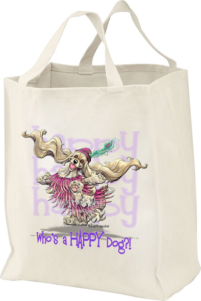 Cocker Spaniel - Who's A Happy Dog - Tote Bag