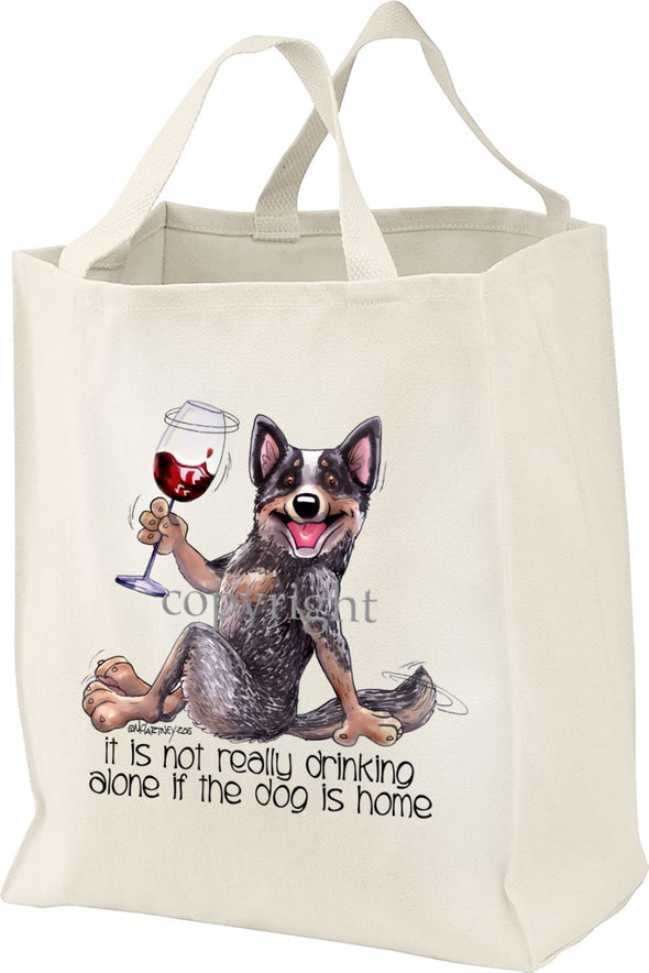 Australian Cattle Dog - It's Not Drinking Alone - Tote Bag