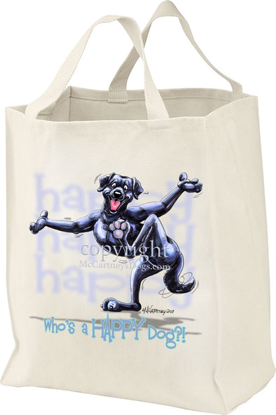Labrador Retriever  Black - Who's A Happy Dog - Tote Bag