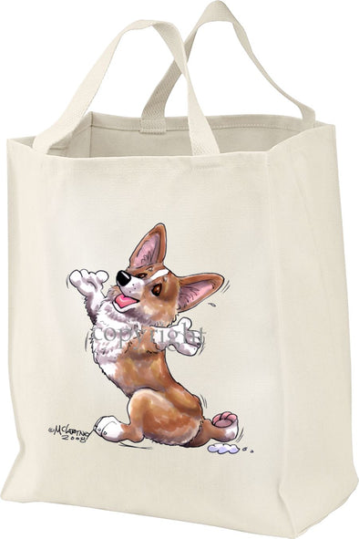 Welsh Corgi Pembroke - Happy Dog - Tote Bag