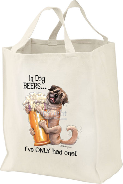 Mastiff - Dog Beers - Tote Bag