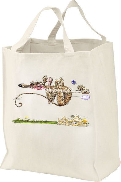 Greyhound - Running Over Rabbits - Mike's Faves - Tote Bag