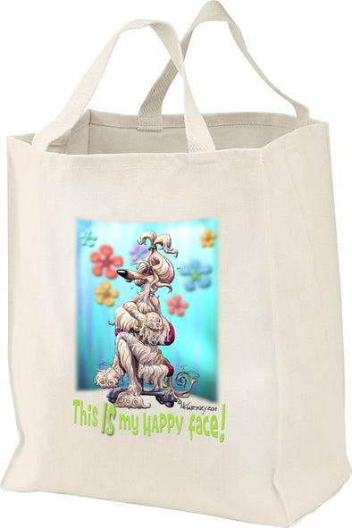 Afghan Hound - 2 - Who's A Happy Dog - Tote Bag