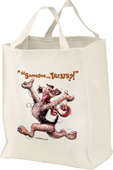 Airedale Terrier - Treats - Tote Bag