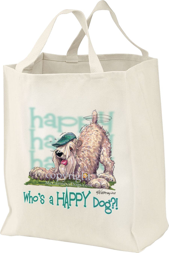 Soft Coated Wheaten - Who's A Happy Dog - Tote Bag
