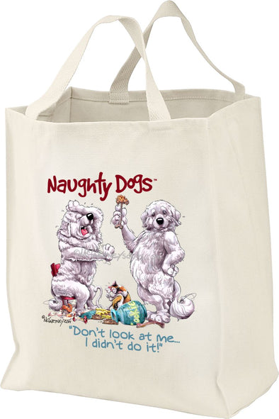 Great Pyrenees - Naughty Dogs - Mike's Faves - Tote Bag