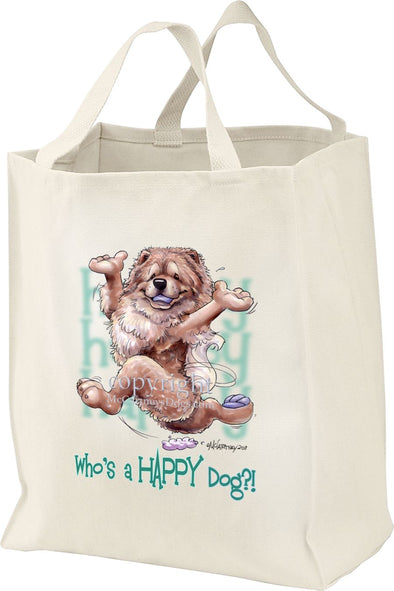 Chow Chow - Who's A Happy Dog - Tote Bag