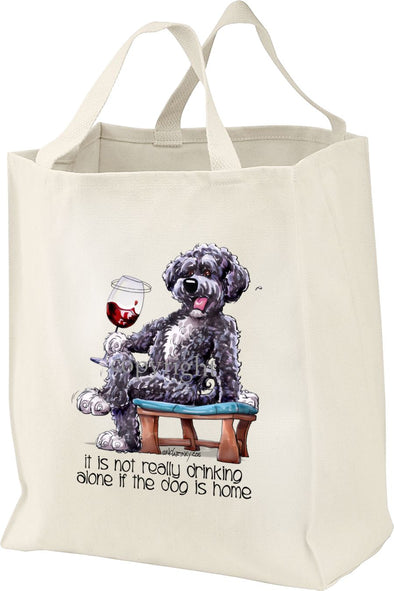 Portuguese Water Dog - It's Not Drinking Alone - Tote Bag