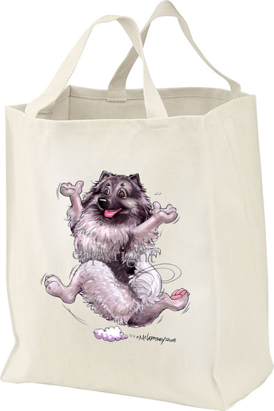 Keeshond - Happy Dog - Tote Bag