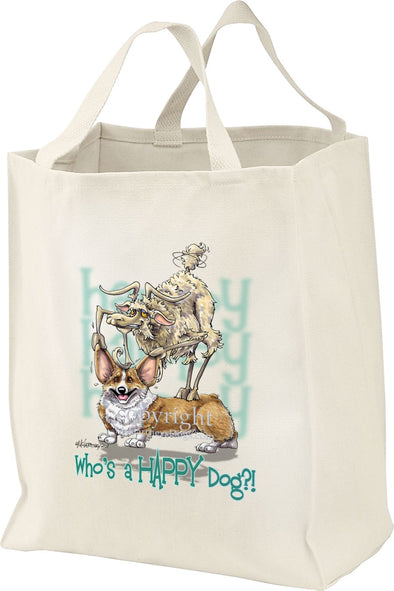 Welsh Corgi Pembroke - Who's A Happy Dog - Tote Bag