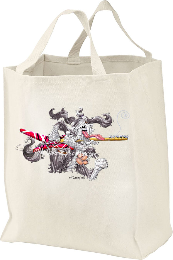 Bearded Collie - Rocker - Mike's Faves - Tote Bag