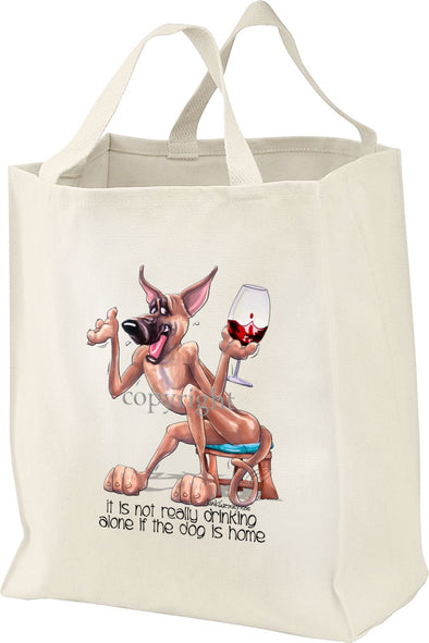 Great Dane - It's Not Drinking Alone - Tote Bag