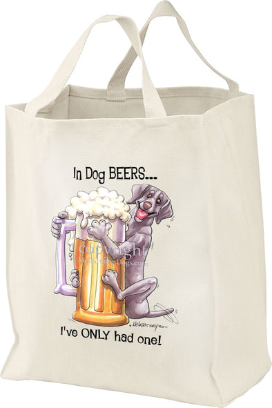 Weimaraner - Dog Beers - Tote Bag