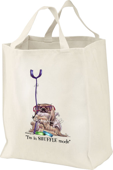 Pekingese - Shuffling - Mike's Faves - Tote Bag