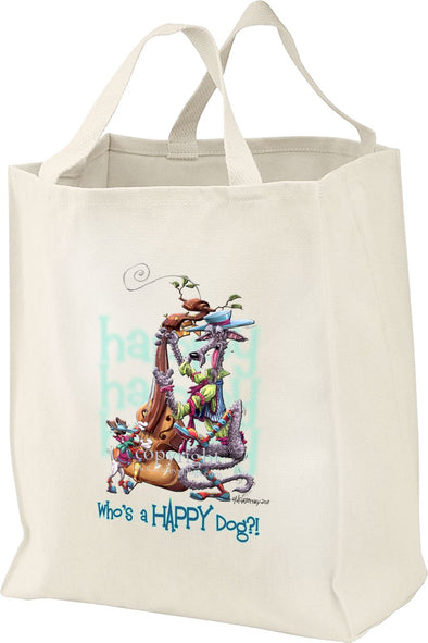Scottish Deerhound - Who's A Happy Dog - Tote Bag