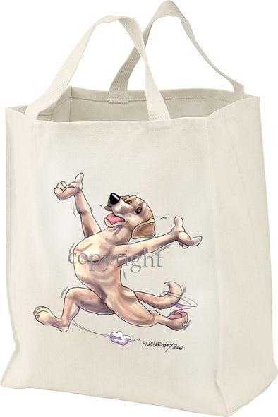Labrador Retriever  Yellow - Happy Dog - Tote Bag