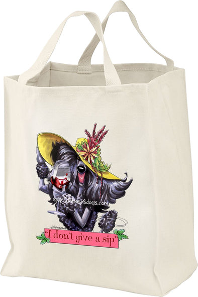 Poodle  Black - Dont Give A Sip - Mike's Faves - Tote Bag