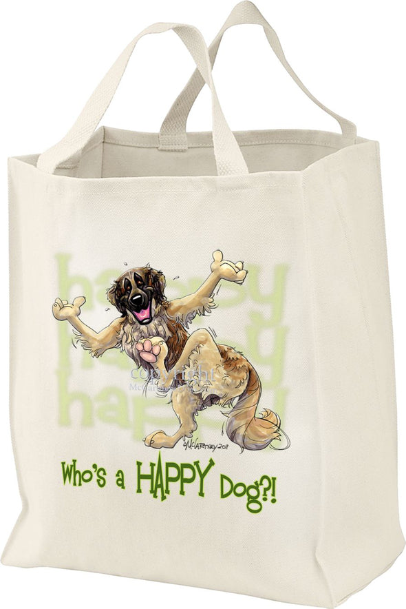 Leonberger - Who's A Happy Dog - Tote Bag