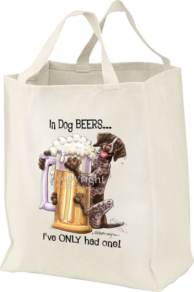 German Shorthaired Pointer - Dog Beers - Tote Bag