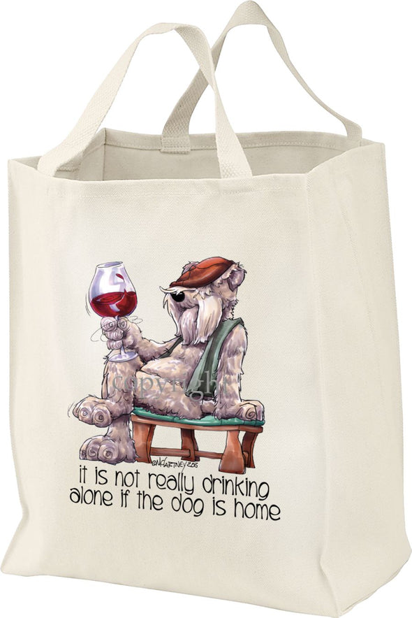 Soft Coated Wheaten - It's Not Drinking Alone - Tote Bag