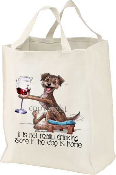 Border Terrier - It's Not Drinking Alone - Tote Bag