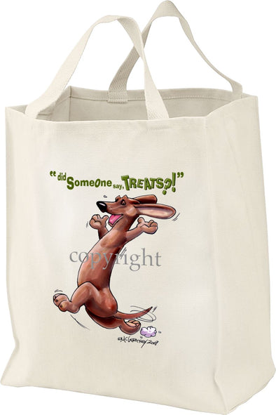 Dachshund  Smooth - Treats - Tote Bag