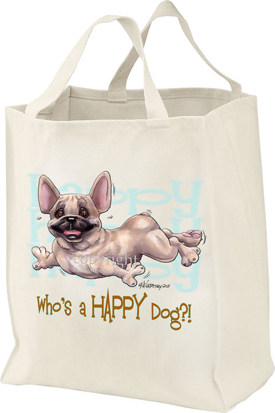 French Bulldog - Who's A Happy Dog - Tote Bag