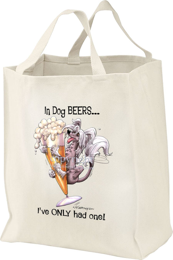 Chinese Crested - Dog Beers - Tote Bag