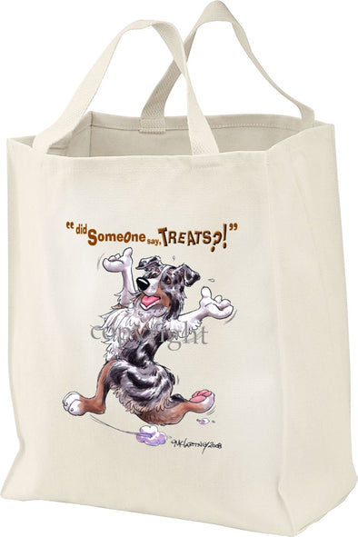 Australian Shepherd  Blue Merle - Treats - Tote Bag
