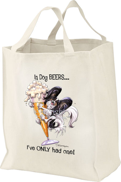 Papillon - Dog Beers - Tote Bag