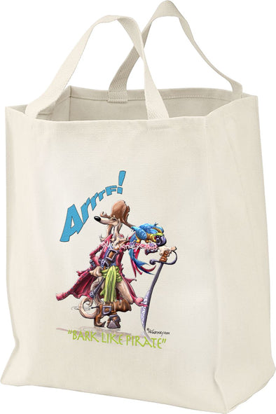 Saluki - Pirate - Mike's Faves - Tote Bag