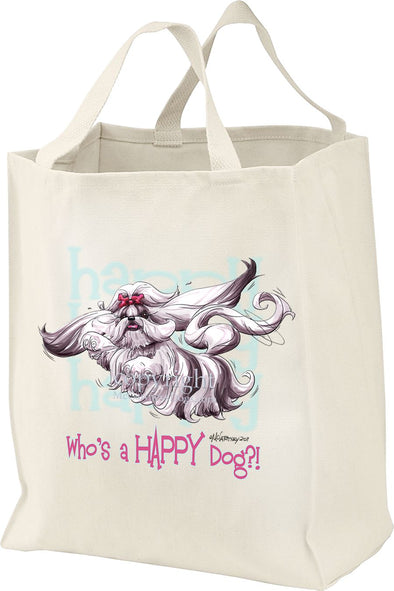 Shih Tzu - Who's A Happy Dog - Tote Bag